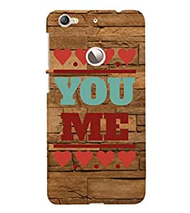 ifasho Designer Phone Back Case Cover LeEco Le 1s :: LeEco Le 1s Eco :: LeTV 1S ( I love Banglore Blue And Wood Look )