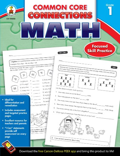 Viewing Mathematics Books  of Common Core Connections Math, Grade 1by Carson Dellosa Publishing (Sep 17, 2013) $2.49