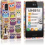 tinxi® Schutzhülle für LG Optimus L5 Hülle TPU Silikon Rückschale Schutz Hülle Silicon Case viele bunte Eulen Owls