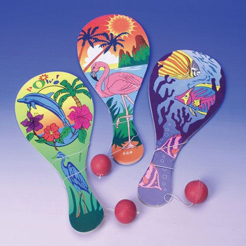 Luau Paddle Balls (12 ct) Favors (12 per package)
