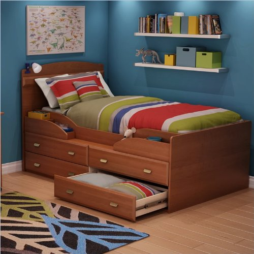 South Shore Furniture Twin Captain's Bed Imagine Collection, Morgan cherry
