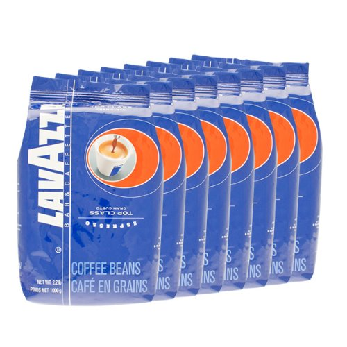 Lavazza Coffee Espresso Top Class Gran Gusto, Whole Beans, Pack Of 8, 8 X 1000G