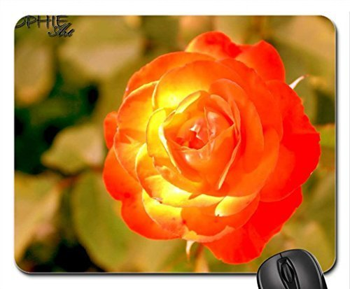 burning rose Mouse Pad, Mousepad (Flowers Mouse Pad)