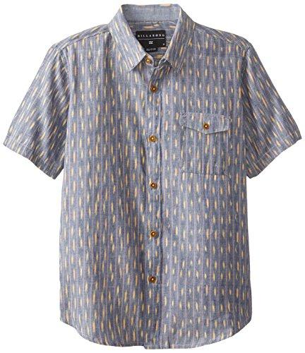 Billabong Big Boys' Inner Space Short Sleeve Shirt, Navy, Medium front-994815