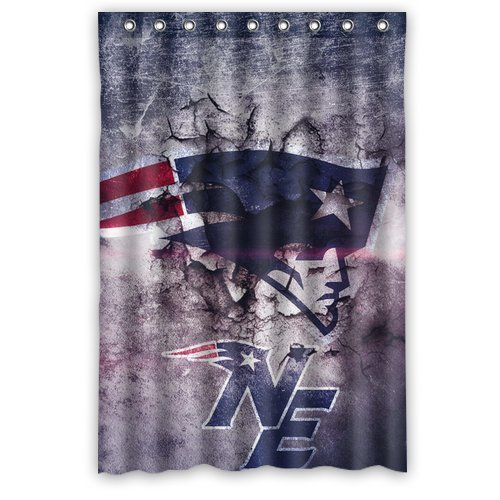 Beau Comfort Home Style Custom NFL New England Patriots Pattern Design  Waterproof Polyester Fabric Shower Curtain,Bathroom Decor 48