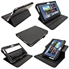 igadgitz Black 360° Rotating Detachable PU Leather Case Cover for Samsung Galaxy Note 10.1 N8000 WiFi 3G Android Tablet + Screen Protector