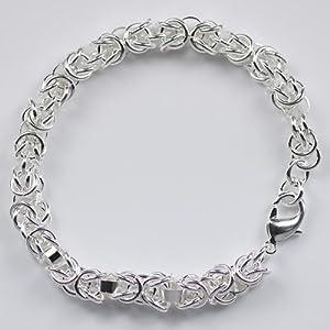 Beautiful Classic 925silver Sytle Women Men Jewelry solid silver Buckle bracelet from Kalali