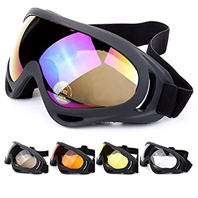 Laho UV Protection Ski Goggles Outdoor Sports Ski Glasses CS Army Tactical Military Goggles Windproof Snowmobile Bicycle Motorcycle Protective Glasses