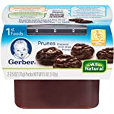 Gerber 1st Foods Prunes, 2-Count, 2.5-Ounce Tubs (Pack of 8)