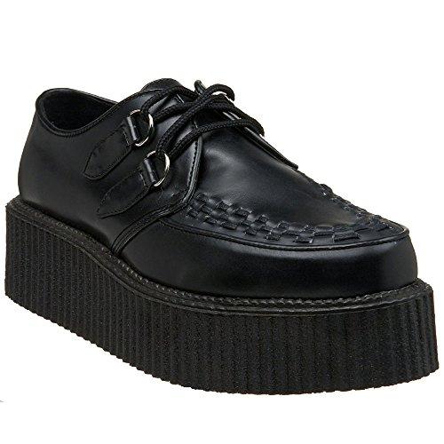 "DEMONIA V-CREEPER-502 2"" Platform Men Punk Goth Basic Veggie Creeper Shoe"
