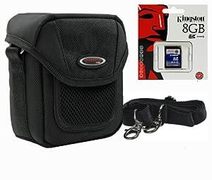 Fototasche, Kameratasche ADVENTURE X-TREME schwarz inkl. 8 GB SDHC Karte, für Canon PowerShot G15, G12, G11, G10, G9, G1X, SX160