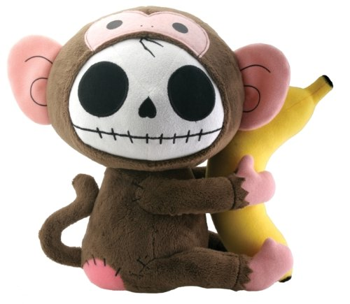 Munky Monkey Furry Bones Plush Stuffed Animal Doll Large Collectible