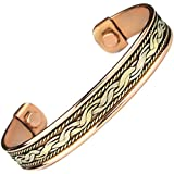 Men Women Magnetic Therapy Pure Copper Bracelet Arthritis Anti Inflamattory Healing Cuff Golf Bangle Mcb14
