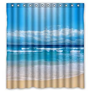 Beach scene shower curtain 2