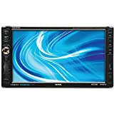 SOUND STORM DD889B Double-DIN 7 inch Motorized Touchscreen DVD Player, Receiver, Bluetooth, Detachable Front Panel, Wireless Remote