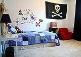 Wall Decal Custom Vinyl Art Stickers - Pirates Buried Treasure Set