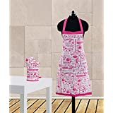 Dekor World Being A Girl Printed Apron Set(Pack Of 2 Pc)