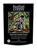 RedTail Grande Gosto Ground Coffee 250g (2 x 125g bags) For Cafetiere Drip Filter - From the Tropical Savanna Ecoregion of Brazil The Daterra Estate is known as one of the Best Coffee Producers in the World