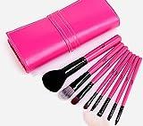 Joly MSQ 8 Pcs Professional Cosmetic Makeup Brushes Tool Set Foundation Eyeshadow Brush with Portable Pu Rose Bag