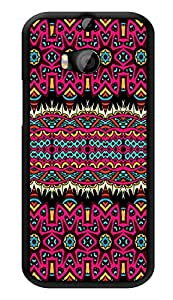 "Humor Gang Beautiful Aztec Tribal Pattern Printed Designer Mobile Back Cover For ""HTC ONE M8 - HTC ONE M8S"" (3D, Glossy, Premium Quality Snap On Case)"