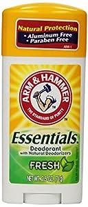 Arm & Hammer Essentials Natural Deodorant, Fresh, 2.5 Ounce