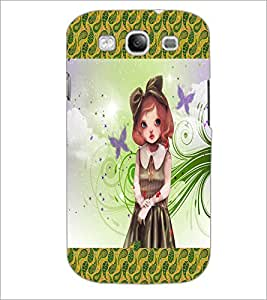 PrintDhaba Cute Girl D-2472 Back Case Cover for SAMSUNG GALAXY S3 (Multi-Coloured)