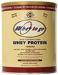 Solgar, Whey To Go, Whey Protein Powder, Natural Chocolate Flavour, 41 oz (1162 g)