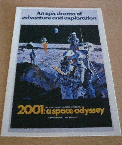 Displayschutzfolie-Stanley Kubrick-2001: The Space Odyssey-10x 15cm Postkarte