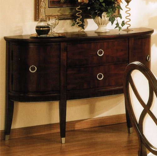 Cheap Server Sideboard with Metal Outline in Brown Cherry Finish (VF_AP-629-73)