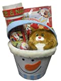 Holiday Snowman Gift Basket - Perfect for Christmas, Hannauka, Kwanza, or Other Special Occassions