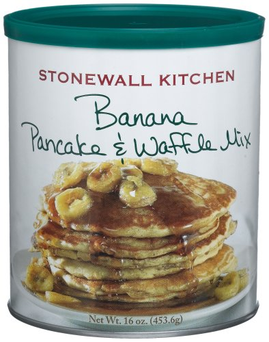 Stonewall Kitchen Banana Pancake & Waffle Mix, 16-Ounce Cans (Pack of 4)