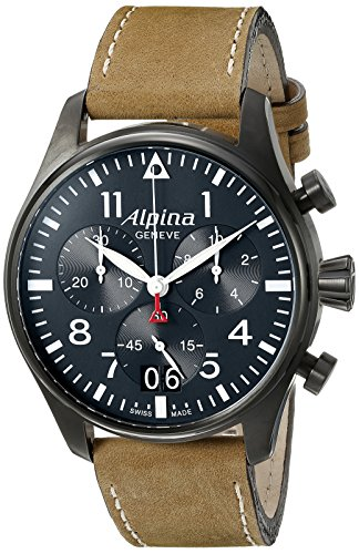 Alpina-Mens-AL-372N4FBS6-Startimer-Pilot-Chronograph-Big-Date-Analog-Display-Swiss-Quartz-Brown-Watch