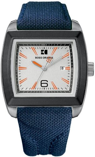 BOSS ORANGE Blue Fabric Mens Watch 1512602