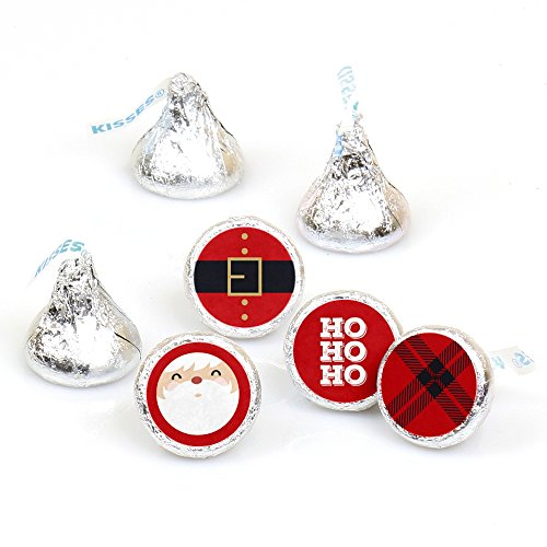 jolly-santa-round-candy-christmas-party-sticker-favours-labels-fit-hersheys-kisses-1-sheet-of-108