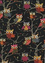 Multifunction Neckwarmer, Snood, Hat, Scarf and Hood in Owl design print by Monogram