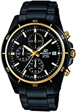 Casio Herren-Armbanduhr XL Edifice Analog Quarz Edelstahl EFR-526BK-1A9VUEF