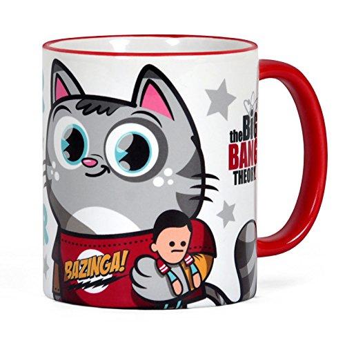 Big Bang Theory - Tazza con motivo cartoon del gatto di Sheldon - Ceramica