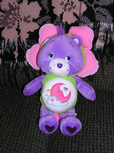 "Care Bears Plush 10"" Sweet Dreams Bear in Flower Outfit - 1"