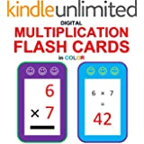 Digital Multiplication Flash Cards in Color (Ordered and Shuffled 1-9)