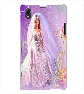 PrintDhaba Bride Barbie D-1115 Back Case Cover for SONY XPERIA Z1 (Multi-Coloured)