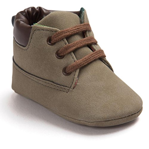 Voberry® Toddler Baby Boy's Leather Sneaker Shoes Lace up Snow Boots Warm (6~12Month, Brown) (Baby Shoes For Boys compare prices)