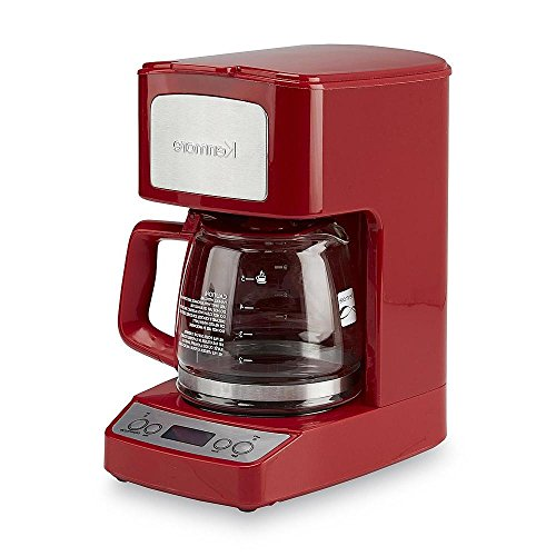 Kenmore 5-cup Compact Digital Kitchen Counter Top Red Coffee Maker Coffee Outlet Direct