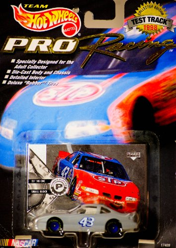 1998 - Mattel - Team Hot Wheels - Pro Racing - Test Track Edition - NASCAR - Bobby Hamilton - #43 STP Pontiac Grand Prix - Upper Deck Power Plants Collector Card - Gray Primer Color - New - Rare Out of Production - Limited Edition - Collectible - 1