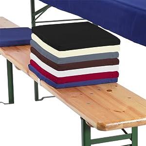 Lot de 4 assises pour banc 25x36x2cm coussin pour banc - Coussin d assise pour banc ...