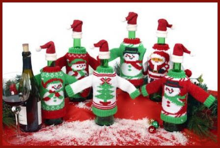 Sweater ideas best price with winter wine bottle knit for How to decorate a wine bottle for a gift