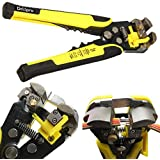 Drillpro Wire Stripping Tool Self-adjusting cable stripper for Industry 0-22 AWG Stranded Wire Cutting