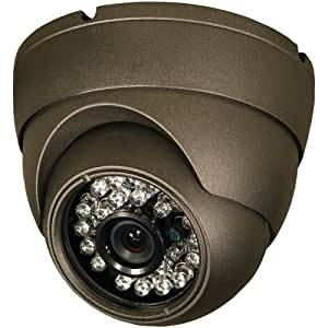 Security Labs SLC-1055 High-Resolution Turret Dome Camera (Black)