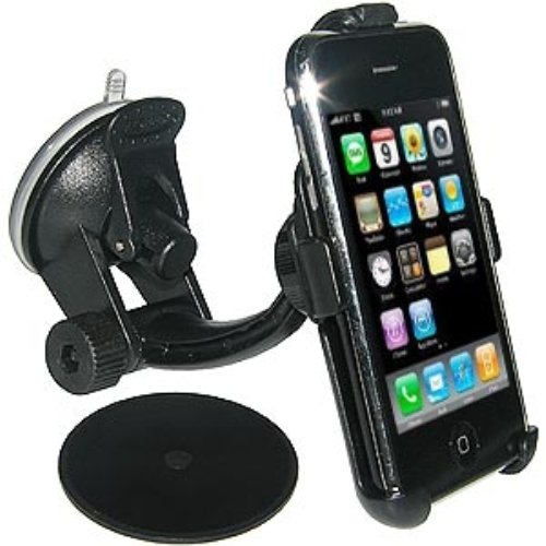 Amzer Suction Cup Mount for Windshield, Dash or Console for iPhone 1G and 3G/3GS - Black
