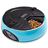 Home Intuition Portion Control 6-Meal Automatic Pet Feeder (Light Blue)