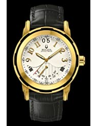 Accutron by Bulova Exeter 65C101 Gold Plated Men's Strap Watch